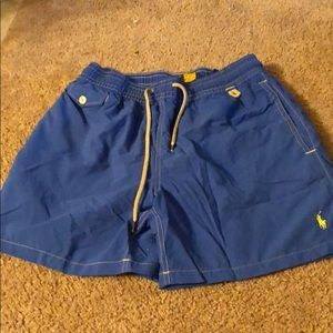 Men's blue polo swim trunks size medium